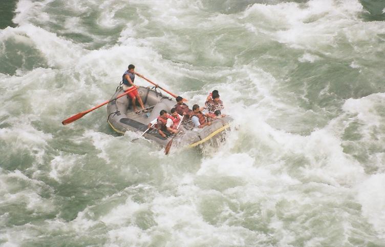 Rafting in Yamuna River