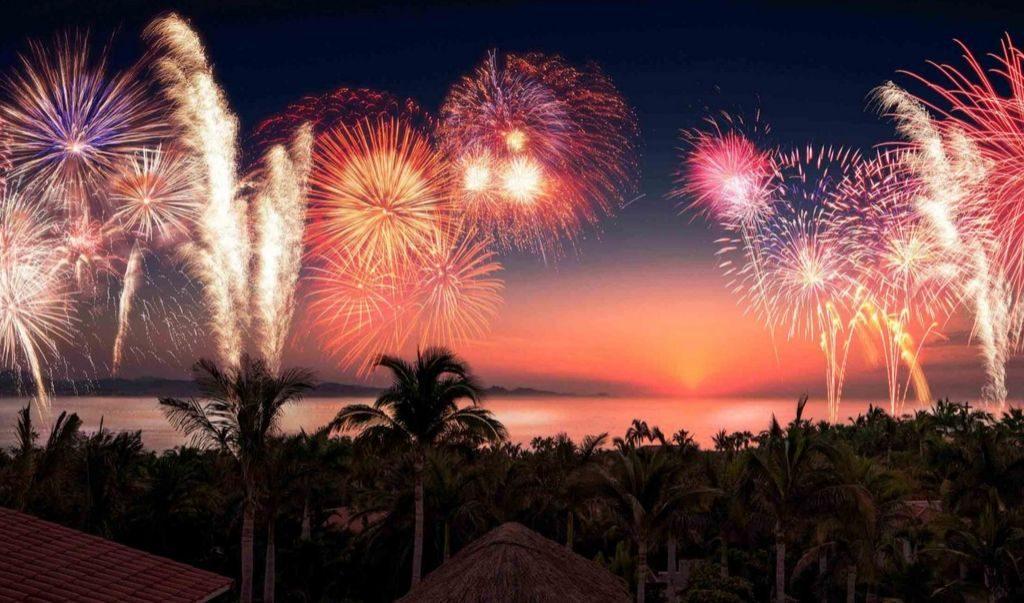 Fireworks display at the Anjuna Beach