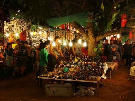 Midnight shopping at Arpora