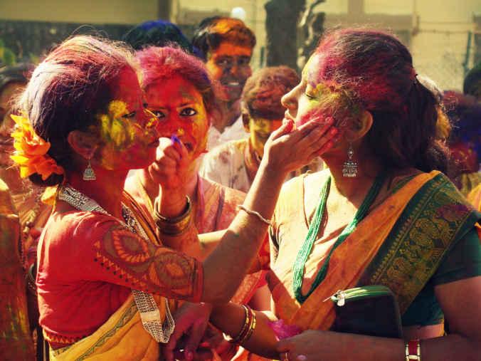 Holi celebration in Shantiniketan